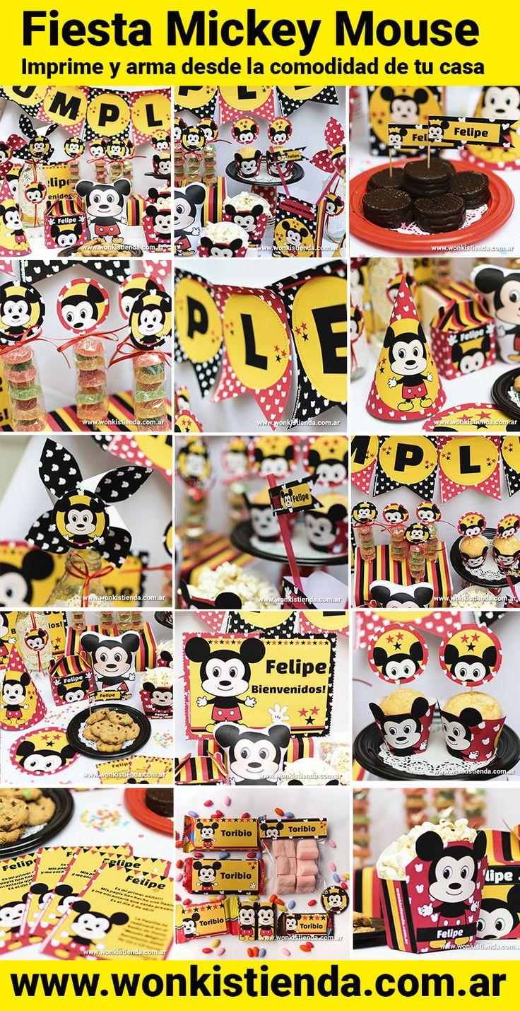 ● Mickey ● Comienza a organizar la fiesta de tus sueños en la comodidad de tu casa o donde quiera que estés ● Te invito a conocer nuestros imprimibles: www.wonkistienda.com.ar/kits-imprimibles/mickey  #mickey #mickeymouse #mickeyd #mickeyds #muckeyparty #mickeymouseparty #imprimibles #kitimprimible #kitsimprimibles #decoraciones #paraimprimir #imprimible  #cumpleaños  #packaging  #wrappers #fiestainfantil #diseñoinfantil   #tarjetasimprimibles #decoracionesfiestas  #invitaciones  #golosinas…