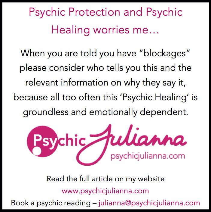I've posted to my blog today - please read my full post at www.psychicjulianna.com  Xx Psychic Julianna