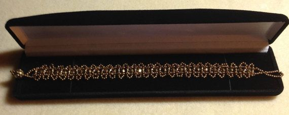 Beautiful Bronze And Gold Beaded Bracelet made by ForgivenMuse for sale on Etsy.