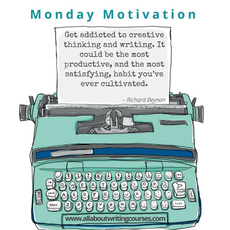 Monday Motivation: Here's an addiction worth cultivating – All About Writing Courses