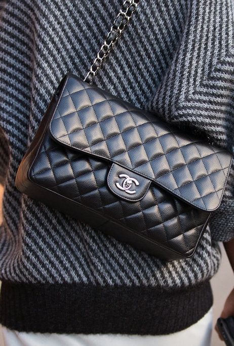 Summer street style inspiration: A quilted Chanel bag is one thing that will never go out of style.