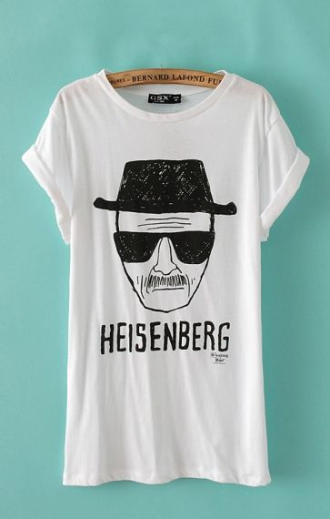 Love...Love...Loved  Breaking Bad  so MUCH! I could watch it over and over and over again! Heisenberg Print Casual T-shirt #Breaking_Bad #Walt #Heisenberg #Tshirt