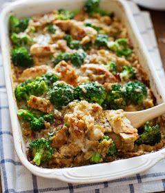 Cooking Pinterest: CREAMY CHICKEN QUINOA AND BROCCOLI CASSEROLE RECIPE