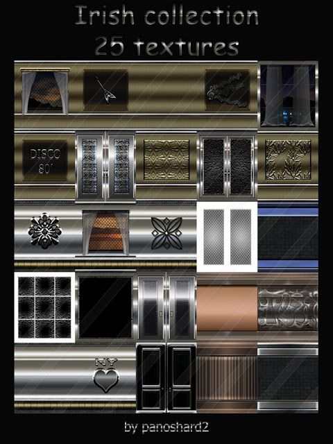 TEXTURES IMVU FOR SALE: Irish collection 25 textures for imvu room