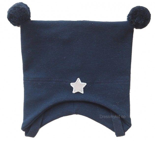 Kivat vårlue, marineblå med dusker og stjerne | DressMyKid.no - Barn og baby - Alltid gode tilbud