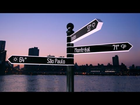 Points - The Most Advanced Directional Sign on Earth - YouTube