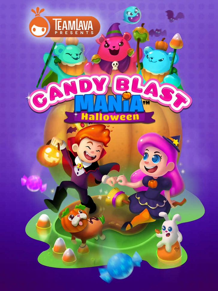 Candy Blast Mania: Halloween App by TeamLava.