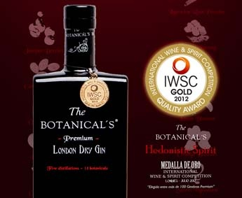 The BOTANICAL´S Premium London Dry Gin ha sido galardonada con la Medalla de Oro