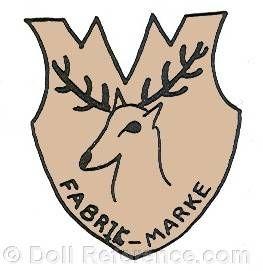 Berthold Eck doll mark deer head Fabrik Marke