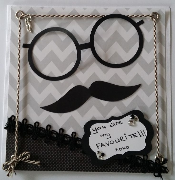 Moustache, glasses, twine and lace