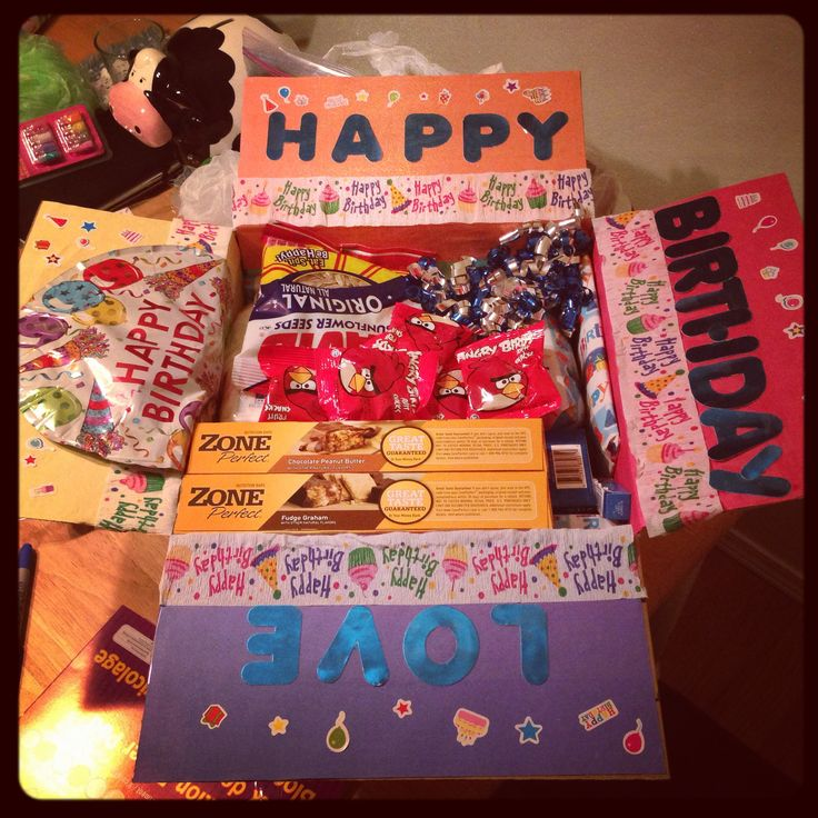 17 Best Ideas About Birthday Care Packages On Pinterest