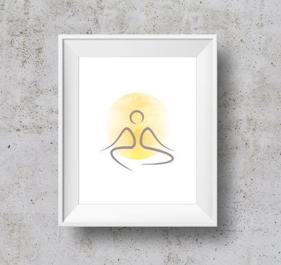Minimalist Meditation Wall Art Instant Download Yoga Print Etsy Yoga Prints Wall Art Instant Download Wall Art