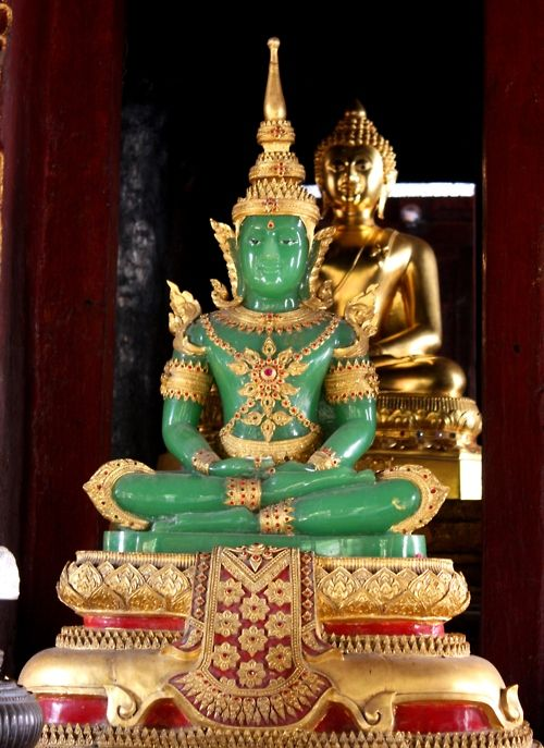 Emerald Buddha, which is actually made out of jade. It's ...