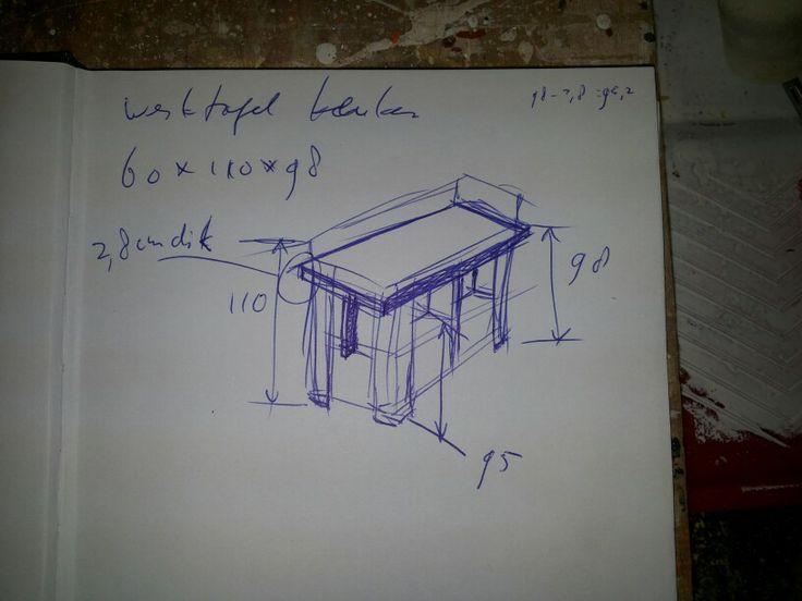 Kitchen worktop sketch