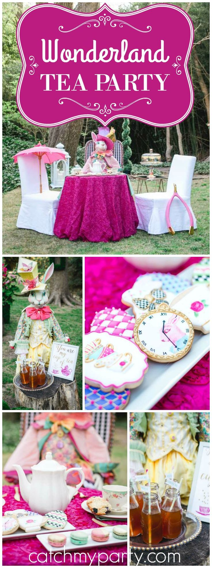 You have to see this Alice in Wonderland Easter tea party! See more party ideas at CatchMyParty.com!