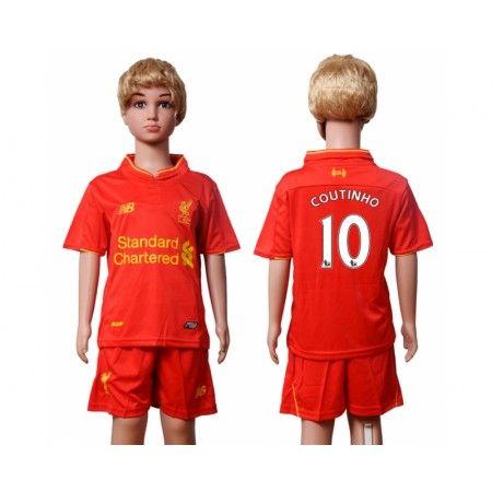 Liverpool Trøje Børn 16-17 Philippe #Coutinho 10 Hjemmebanesæt Kort ærmer.199,62KR.shirtshopservice@gmail.com