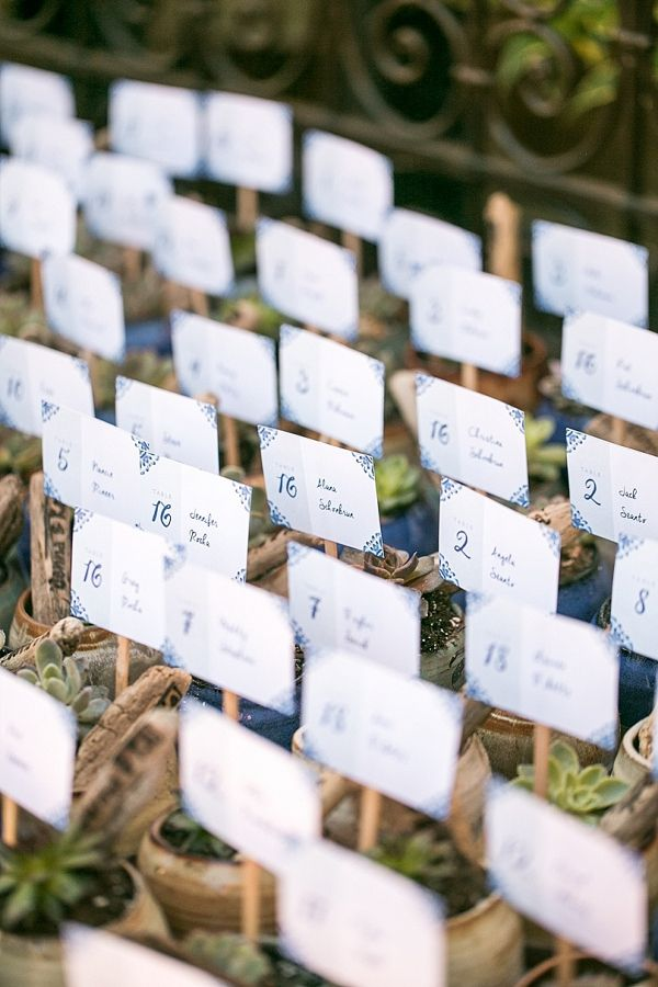 Succulent escort cards    #wedding #weddings #weddingideas #aislesociety #realwedding #succulents