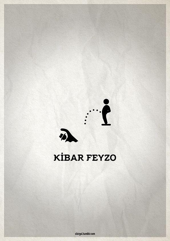 Minimal Poster / Kibar Feyzo #pictogram #yesilcam #poster #afis