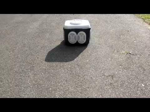 River cooler radio pushing 1300 watts! - YouTube