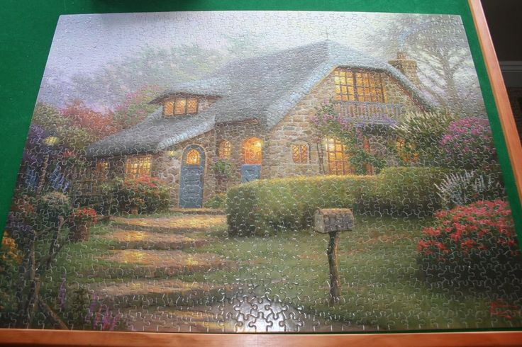 "Thomas Kinkade ""  ""Lilac Cottage""  Puzzle 1000 Pieces by CEACO 2005 #CEACOTHOMASKINKADE"