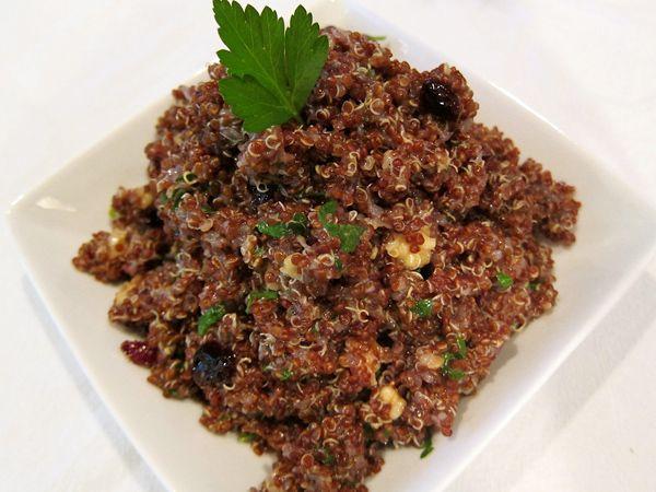 Warm Quinoa Cranberry Walnut Salad