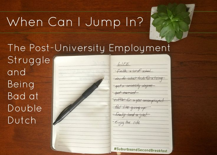 When Can I Jump In? The Post-University Employment Struggle and Being Bad at Double Dutch  #SuburbsandSecondBreakfast #lifestyle #personal #blog #universitygraduate #graduate #unemployed #jobsearch #university #communications #marketing