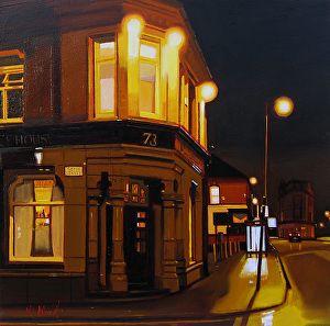 "The Marble Arch Inn, Manchester by Michael John Ashcroft Oil ~ 10"" x 10"""