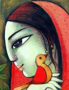 Radha12_1 Painting By Sekhar Roy