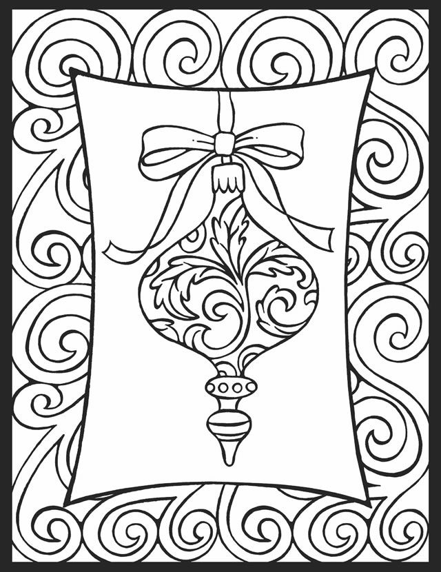 a crowes gathering christmas ornament coloring page