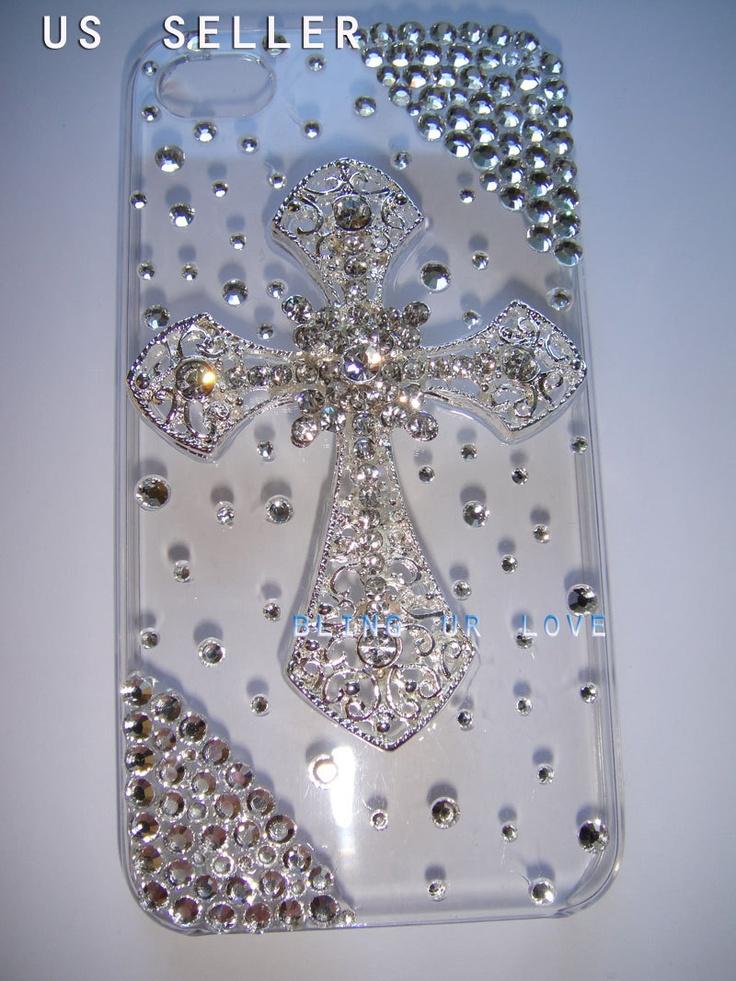 Bling iPhone5 case made with Swarovski Diamond Crystal. $19.99, via Etsy.