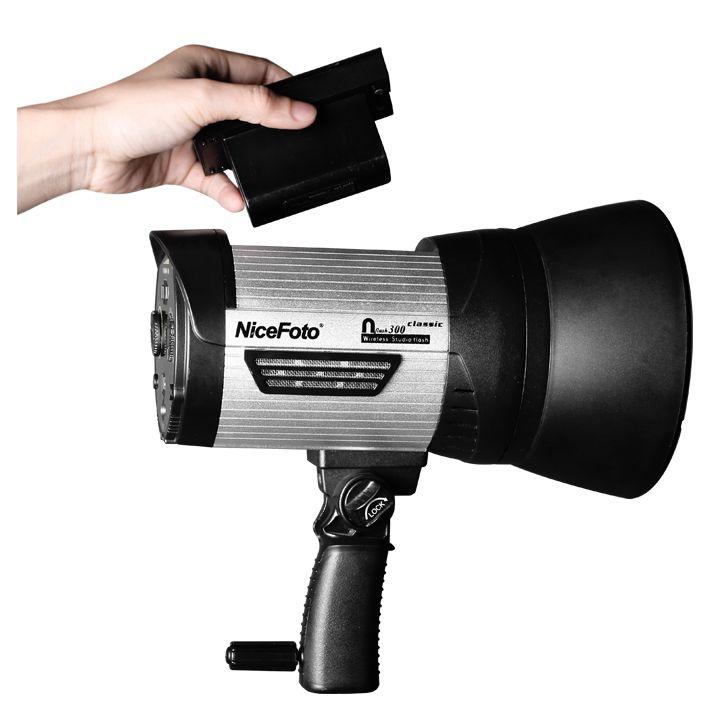 Аккумуляторный студийный моноблок NiceFoto Classic nflash 300 (крепление bowens)