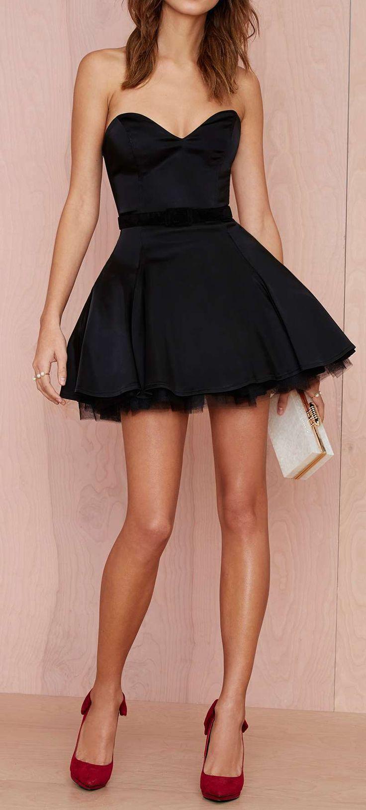 Sweetheart fit & flare dress