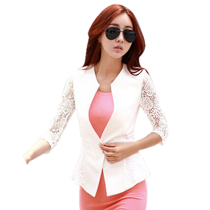 Cheap blazer jacket men, Buy Quality jackets for men polo directly from China blazer lemon Suppliers: Slim Women Blazers 2017 Long-Sleeved Lace Patchwork Blazer Jackets Small Suit Korean Version (white Black) Blazer Femme Spring