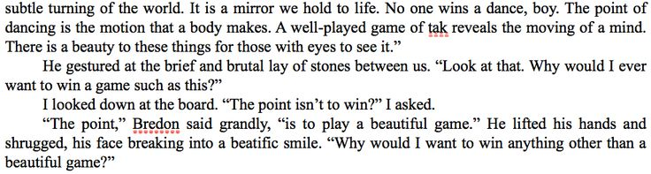 patrick rothfuss, kvothe, tak, wise mans fear, play a beautiful game, way of life, philosophy