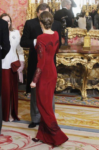 Letizia Et Felipe VI D'Espagne À Madrid Le 26 Janvier 2017 11