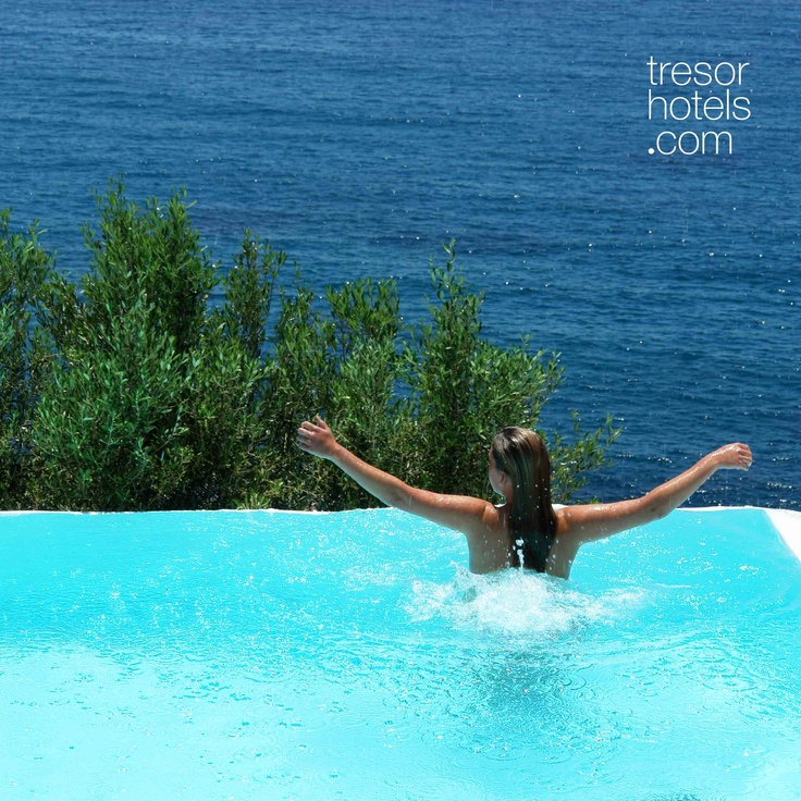Trésor Hotels and Resorts_Luxury Boutique Hotels_#Greece_  If serenity is all that you are seeking for, there are two more swimming pools at the upper levels of #Ios #Palace where nothing at all could spoil your privacy.