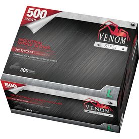Venom Steel 500-Count Large Nitrile Cleaning Gloves Ven6543