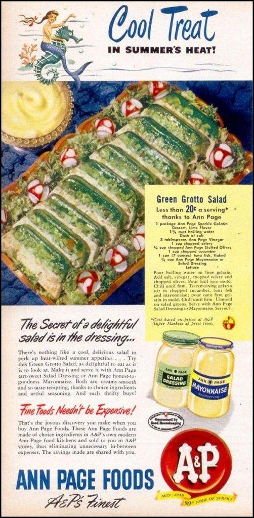 Savory Jello Recipes (click thru for analysis)