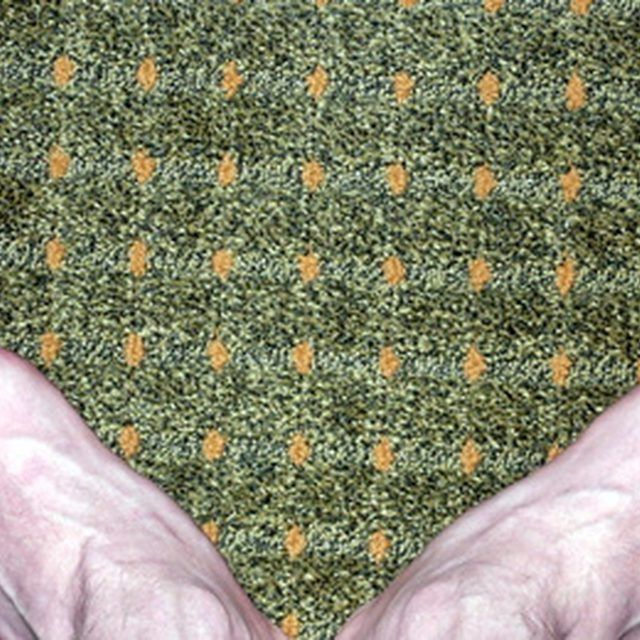 Remove feces and feces stains from carpet as soon as possible.