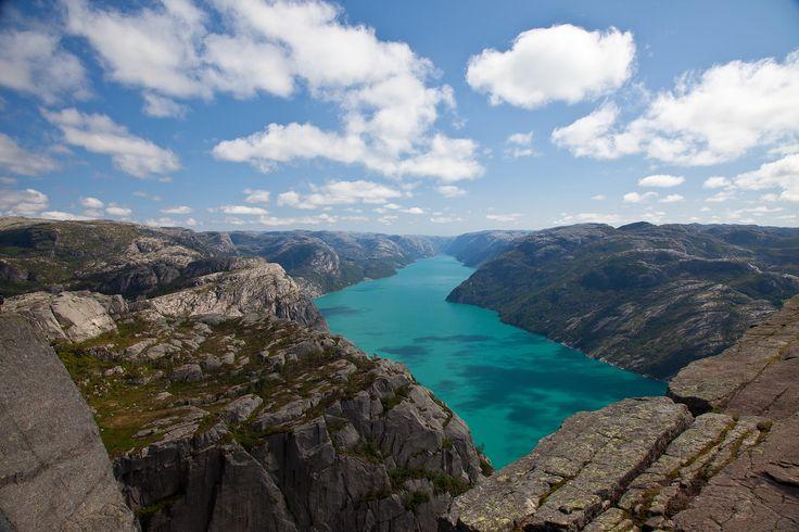 Norsko . Preikestolen