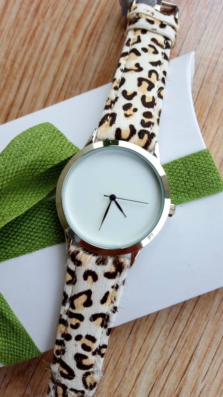 Minimalist Leopard Print Watch, Fashion Watch, Unisex Watch, Handmade Watch, Unique Watch, Statement Watch, Beautiful Gift by IrishFashionWatches on Etsy