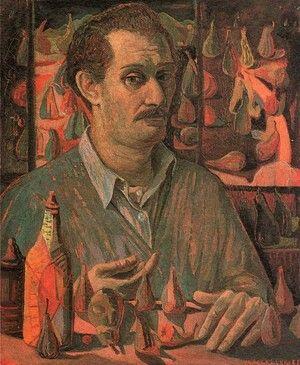 PIERO MACCAFERRI  (Cilavegna 1916-1992) Autoritratto