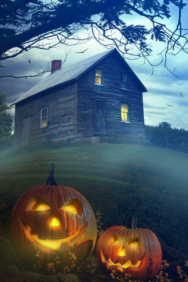 coole erschreckende Kürbisse zum Halloween