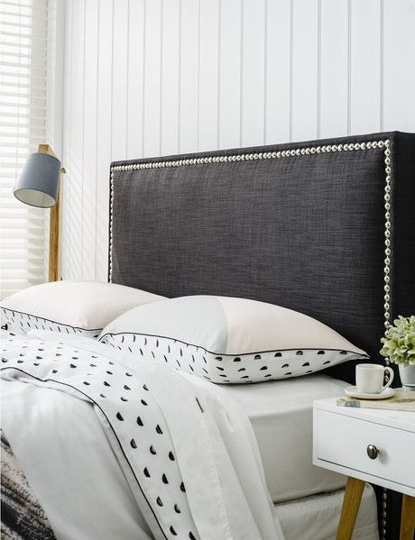 Luca Thea Studded Headboard, Queen product photo