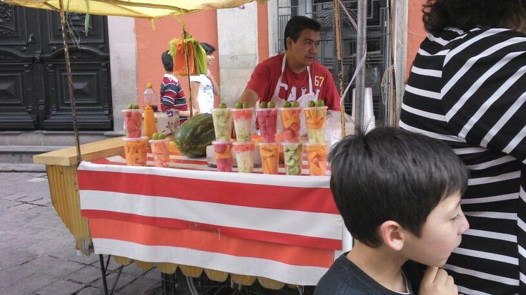 Puesto de frutas en Guanajuato