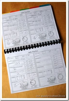 Free Daily calendar notebook- wow! this is so extensive I can't believe it's free. This is wonderful math practice for first graders and could allow a homeschooling mama some time to get a little housework or breakfast prep done in the morning :)