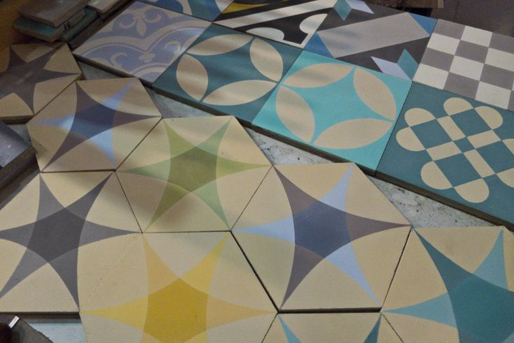 Roundstar, Circle, Spanish, Normand and Clover. #purpura #cementtiles