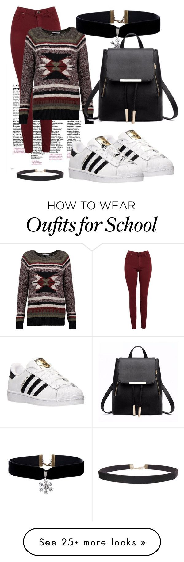 """Back to school of winter break"" by jahnaeboo11 on Polyvore featuring AG Adriano Goldschmied, Autumn Cashmere, adidas and Humble Chic"