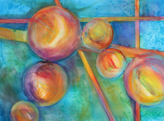 Colored Pencil Drawings Of Marbles : Colored marbles abstract laura trevey watercolors