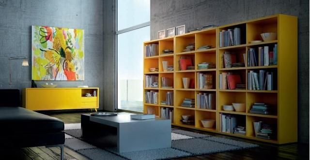 Estantería en color amarillo ¡Dale color a tu hogar!